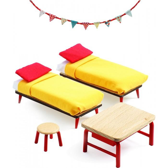 Кукольные домики и мебель Djeco Мебель для кукольного дома Спальня для детей
