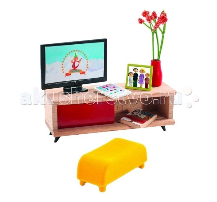 Кукольные домики и мебель Djeco Мебель для кукольного дома Телевизор мебель для гостиной вмф мебель тумба под тв тунис