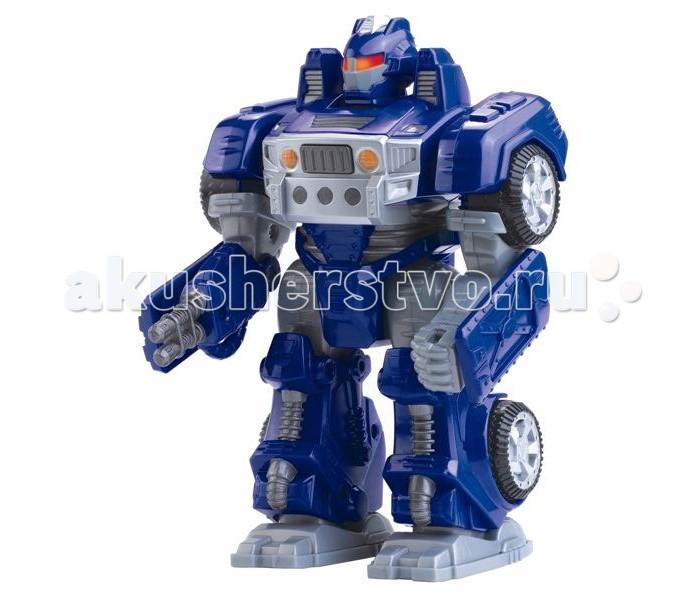 Роботы Hap-p-Kid Робот-трансформер синий 17.5 см игровые фигурки hap p kid робот трансформер ретро синий