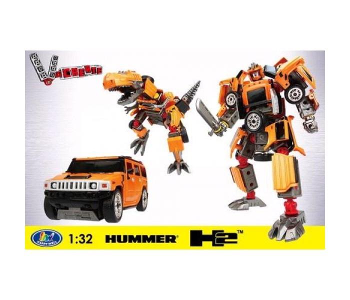 машины kidztech а м 1 26 hummer h2 Электронные игрушки Happy Well Робот-трансформер Hummer H2 1:32