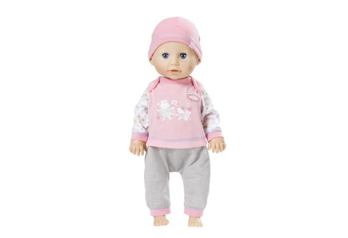 Zapf Creation Кукла Baby Annabell Учимся ходитьКуклы и одежда для кукол<br>Кукла ZAPF Creation Baby Annabell Учимся ходить выглядит как самый настоящий ребенок! У нее реалистичное личико с пухлыми щечками, одета игрушка в симпатичный розовый комбинезон с изображением барашков и шапочку.   Одежду можно снимать и переодевать куклу по своему вкусу.  Функционал куклы таков, что любая девочка, играющая с ней, почувствует себя настоящей  мамой.   Малышке Беби Аннабель нужен уход, забота и внимание. Кукла ведет себя как живая, она умеет самостоятельно ползать, сидеть и даже капризничать. Когда Аннабель ползает, она поднимает головку точно также, как это делают настоящие младенцы.   Чтобы помочь ей научиться ходить, надо поднять ее вверх за ручки. Держите ее крепко, пока она делает свои первые шаги, ведь если кукла упадет, то может заплакать. А чтобы Беби Аннабель уснула, нужно положить ее на спину - тогда она закроет глаза.