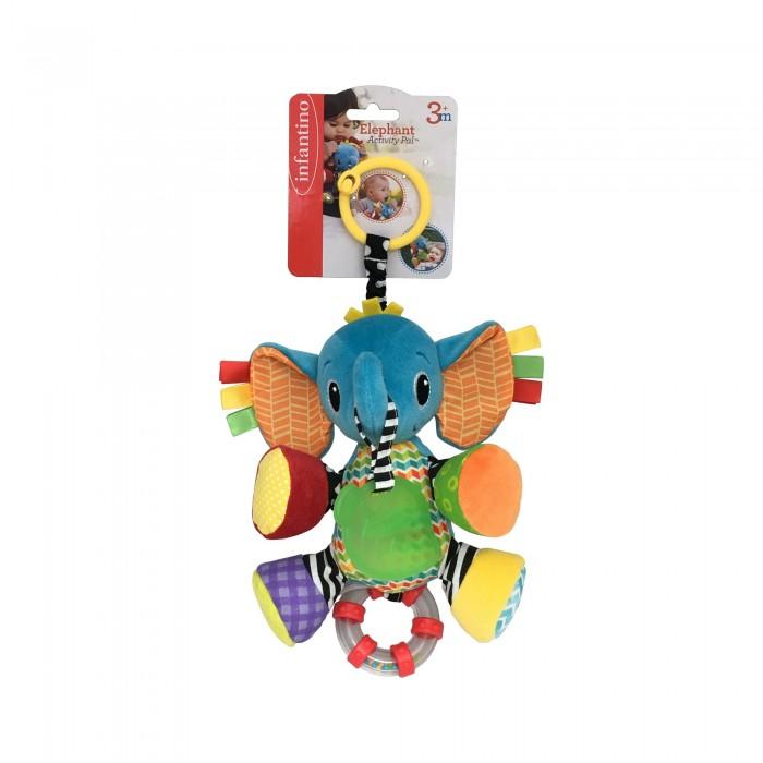 Подвесные игрушки Infantino Подвеска Слоненок подвесные игрушки мир детства мини подвеска слоненок