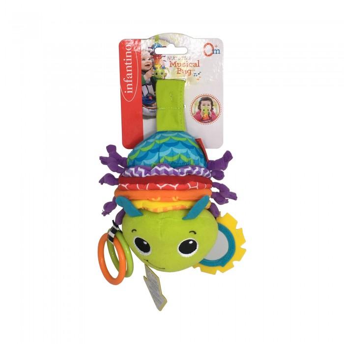 Подвесные игрушки Infantino Музыкальная игрушка Гусеничка