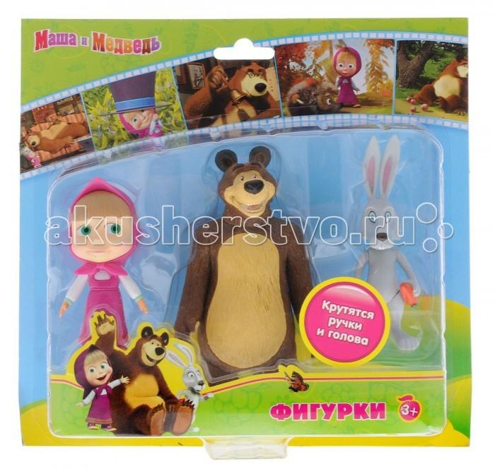 Играем вместе Набор из 3-х фигурок: медведь, заяц и Маша