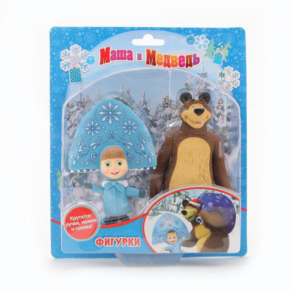 Игровые фигурки Играем вместе Набор из 2-х фигурок: медведь и Маша-снегурочка играем вместе сачок маша и медведь играем вместе в ассортименте