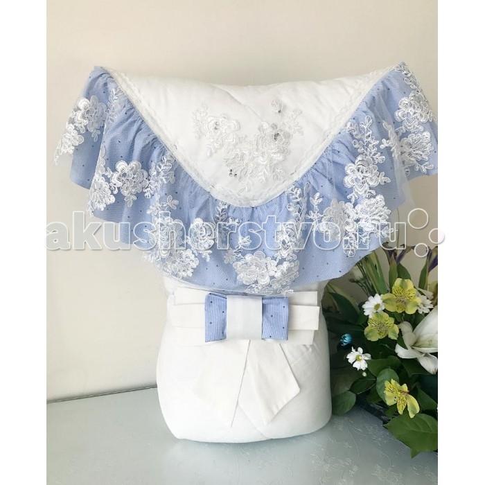 Детская одежда , Конверты на выписку Fleole Конверт-одеяло на выписку Ванильная лазурь (зима) арт: 424929 -  Конверты на выписку