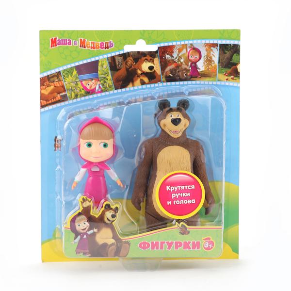 Игровые фигурки Играем вместе Набор из 2-х фигурок: медведь и Маша фигурки игрушки играем вместе набор из 2 х фигурок попугай кеша и кот