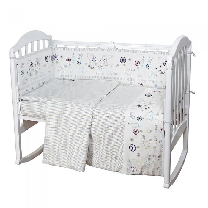Постельные принадлежности , Постельное белье Baby Nice (ОТК) Ежик (4 предмета) арт: 426084 -  Постельное белье