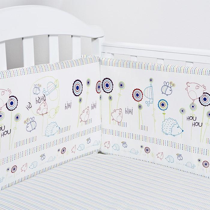 Постельные принадлежности , Бортики в кроватку Baby Nice (ОТК) Ежик арт: 426174 -  Бортики в кроватку