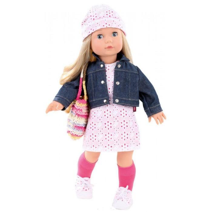Gotz Кукла Джессика 46 смКукла Джессика 46 смGotz Кукла Джессика 46 см - это очаровательная кукла с длинными светлыми волосами станет замечательным подарком для девочки. С необычной куклой, которая так похожа на настоящую девочку, можно проводить много времени вместе, придумывая увлекательные сюжеты для игр.  Кукла с виниловым подвижным телом подходит для активных игр дома и на улице. У куклы мягкое тело, ручки и ножки не сгибаются. Голова поворачивается. Глазки закрываются. Куклу можно переодевать и делать различные прически. Кукла имеет длинные светлые волосы, которые прочно вшиты для избежания выпадения во время интенсивных игр детей.  Кукла, одежда и аксессуары выполнены из качественных материалов с учетом необходимых стандартов, соответствующих европейским нормативам. Куклу можно мыть, для поддержания одежды в опрятном виде рекомендуется щадящая машинная стирка при температуре 30 градусов.  Кукла приятна на ощупь, стимулирует сенсорное развитие ребенка, знакомит с новыми материалами и формами.<br>