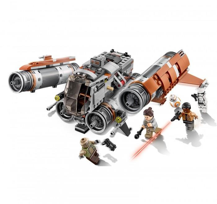 Конструктор Lego Star Wars 75178 Лего Звездные Войны Квадджампер ДжаккуStar Wars 75178 Лего Звездные Войны Квадджампер ДжаккуКонструктор Lego Star Wars 75178 Лего Звездные Войны Квадджампер Джакку  может привести в восторг любого поклонника знаменитой саги Звездные войны. Ребенку будет интресно примерить на себя роль военного стратега и самому разыграть эпизод из франшизы Star Wars.  Отважная амазонка по имени Рэй, дроид BB-8 и сбежавший от Первого Ордена Финн хотят благополучно добраться до базы Сопротивления. Штурмовик Первого Ордена и опасный головорез пытаются сорвать планы героев и захватить их в плен.  Игрушечный корабль, на котором отважные герои собираются сбежать от противников, имеет четыре турбины и оснащен мощными орудиями. Только ребенку сможет решить, на чьей стороне победа окажется в этот раз.  Количество деталей: 457 шт.<br>
