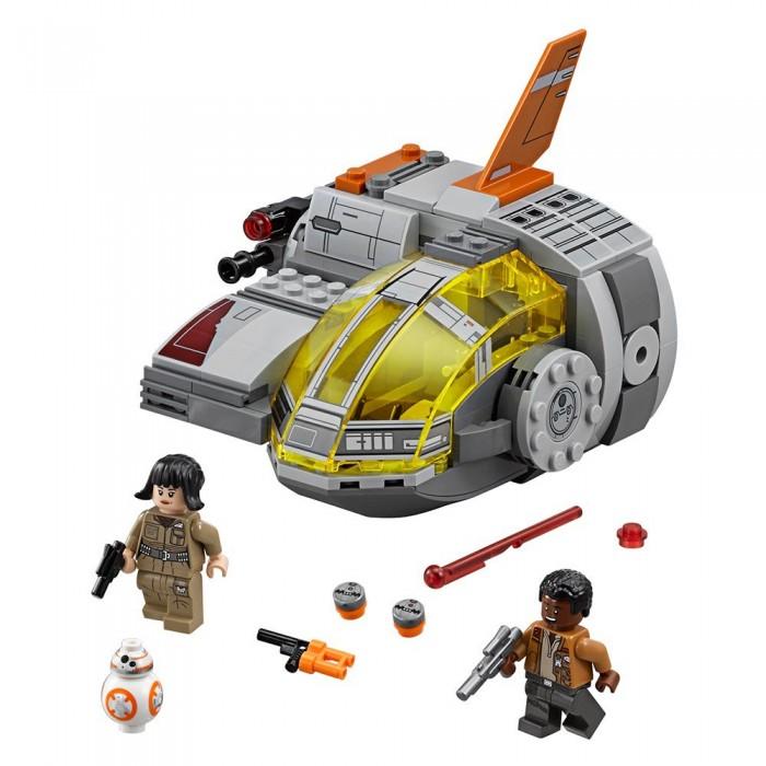 Конструктор Lego Star Wars 75176 Лего Звездные Войны Транспортный корабль сопротивленияStar Wars 75176 Лего Звездные Войны Транспортный корабль сопротивленияКонструктор Lego Star Wars 75176 Лего Звездные Войны Транспортный корабль сопротивления несомненно разнообразит игровой досуг мальчиков.  Особенности: В комплекте ребенок найдет 294 детали из высококачественной и прочной пластмассы, позволяющие собрать не просто модель средства передвижения в космическом пространстве, а настоящую уменьшенную копию корабля с подвижными деталями Так как транспорт принадлежит сопротивлению, он оснащен мощным стрелковым оружием Подвижное крыло добавит Resistance Transport Pod маневренности и позволит совершать невероятные виражи Кабина пилота может открываться, что позволит сажать в нее входящие в комплект мини-фигурки персонажей Star Wars, выполненные в классическом стиле Лего, таких как Финн и Роуз, а также дроид BB-8, которого можно спрятать в грузовой отсек, скрывающийся под крылом.<br>