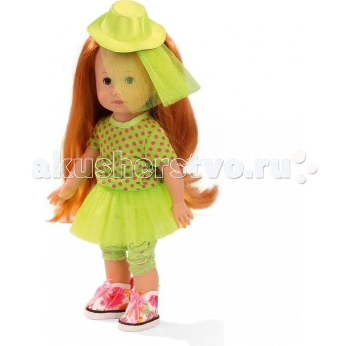 Gotz Кукла Люсиа 27 смКукла Люсиа 27 смGotz Кукла Люсиа 27 см - это очаровательная малышка с яркими длинными волосами станет замечательным подарком для девочки. С необычной куклой, которая так похожа на настоящую девочку, можно проводить много времени вместе, придумывая увлекательные сюжеты для игр.  Куклу можно переодевать и делать различные прически. Кукла имеет рыжие волосы, которые прочно вшиты для избежания выпадения во время интенсивных игр детей.  Люсия одета в летний наряд, состоящий из пестрого костюмчика зеленого цвета. На ножках у куколки - высокие стильные ботиночки со шнуровкой. На голове яркая шляпка в тон платью с полями.  Ручки и ножки у куклы не сгибаются. Голова поворачивается. Глазки у куколки закрываются.  Кукла, одежда и аксессуары выполнены из качественных материалов с учетом необходимых стандартов, соответствующих европейским нормативам. Куклу можно мыть, для поддержания одежды в опрятном виде рекомендуется щадящая машинная стирка при температуре 30 градусов.<br>