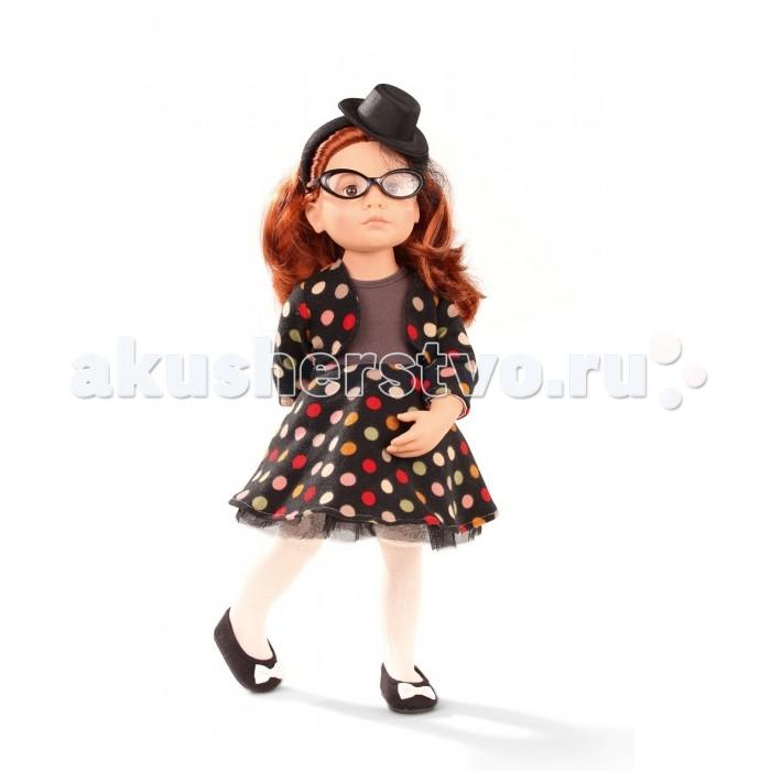 Gotz Кукла Кати 50 смКукла Кати 50 смGotz Кукла Кати 50 см - это очаровательная кукла в стильном наряде станет замечательным подарком для девочки. Она с твердым виниловым подвижным телом подходит для активных игр дома и на улице. Куклу можно переодевать и делать различные прически. Кукла имеет рыжие длинные волосы, которые прочно вшиты для избежания выпадения во время активных игр детей.  Кати одета в стильный наряд, состоящий пестрого костюма с блузкой и пышной юбкой. На ножках у куколки - светлые колготочки и туфли в тон платью, на голове - стильная шляпка с полями.У куклы 9 точек артикуляции в плечах, бедрах, коленях, шее. Глазки у куклы не закрываются.  Кукла, одежда и аксессуары выполнены из качественных материалов с учетом необходимых стандартов, соответствующих европейским нормативам. Куклу можно мыть, для поддержания одежды в опрятном виде рекомендуется щадящая машинная стирка при температуре 30 градусов.  Кукла приятна на ощупь, стимулирует сенсорное развитие ребенка, знакомит с новыми материалами и формами.   Имеет индивидуальный номер.<br>