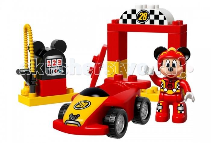Lego Lego Duplo 10843 Лего Дупло Гонщик Микки lego duplo 10508 лего дупло большой поезд