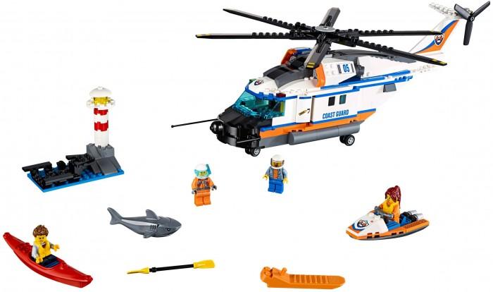Конструктор Lego City 60166 Лего Город Сверхмощный спасательный вертолётCity 60166 Лего Город Сверхмощный спасательный вертолётКонструктор Lego City 60166 Лего Город Сверхмощный спасательный вертолёт предлагает ребенку разыграть увлекательный сюжет с участием сверхмощного спасательного вертолета.   В комплект входят 415 пластиковых деталей, из которых ребенок сможет собрать геликоптер с шестилопастным вращающимся пропеллером и небольшой маяк.  Размер собранного вертолета: 13 x 40 x 10 см Размер скутера: 3 x 8 x 4 см Размер каяка: 4 x 1 x 1 см Размер маяка: 9 x 6 x 10 см Длина акулы: 7 см.<br>
