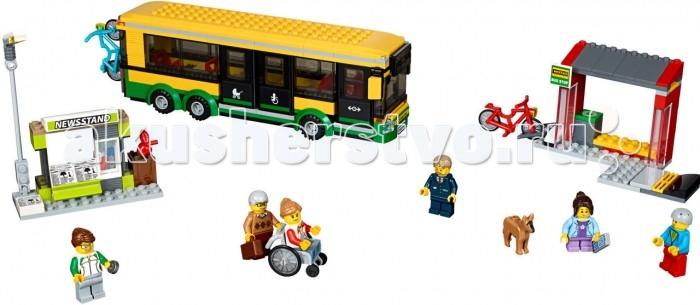 Lego Lego City 60154 Лего Город Автобусная остановка lego city 60107 лего город пожарный автомобиль с лестницей