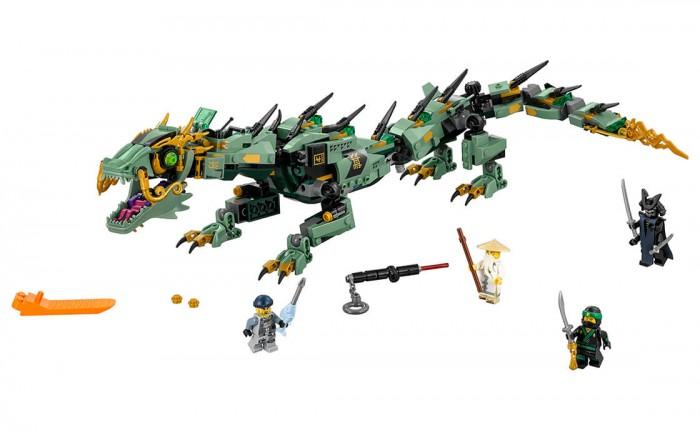 Конструктор Lego Ninjago 70612 Лего Ниндзяго Механический Дракон Зелёного НиндзяNinjago 70612 Лего Ниндзяго Механический Дракон Зелёного НиндзяКонструктор Lego Ninjago 70612 Лего Ниндзяго Механический Дракон Зелёного Ниндзя создан по мотивам анимационного сериала.  Особенности: Ребенку предстоит из 544 деталей собрать реалистичную фигурку дракона и принять участие в битве со злодеем по имени Гармадон Чтобы одолеть мощного противника, Зеленому Ниндзя необходимо использовать специальные шипометы. Игрушечный змей поднимется в воздух, если ребенок активирует его хвост, который способен вращаться в разные стороны. Все элементы набора Mech Dragon Of The Green Ninja из серии Ninjago прекрасно соединяются между собой Благодаря фигуркам, входящим в комплект, игра в ниндзя будет более реалистичной Играя с конструктором Лего, дети смогут развить логическое и пространственное воображение, внимательность, усидчивость и воображение. Размер дракона в собранном виде: 13 x 60 x 12 см.<br>