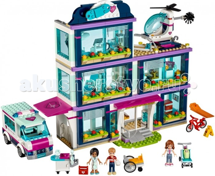 Lego Lego Friends 41318 Лего Подружки Клиника Хартлейк-Сити, Lego - артикул:427099