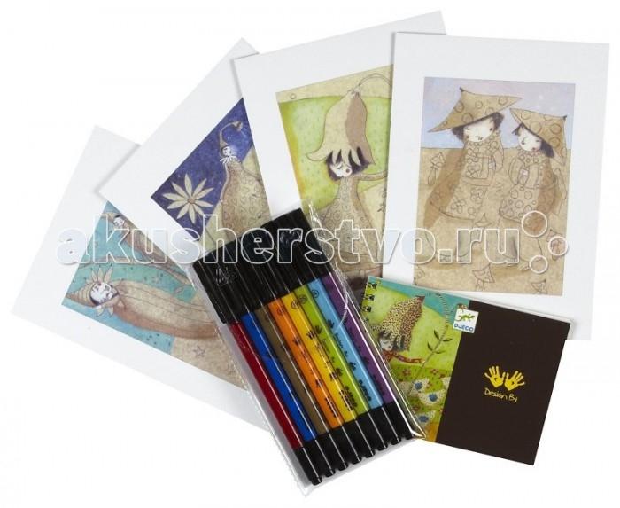 Творчество и хобби , Раскраски Djeco С цветами арт: 427494 -  Раскраски