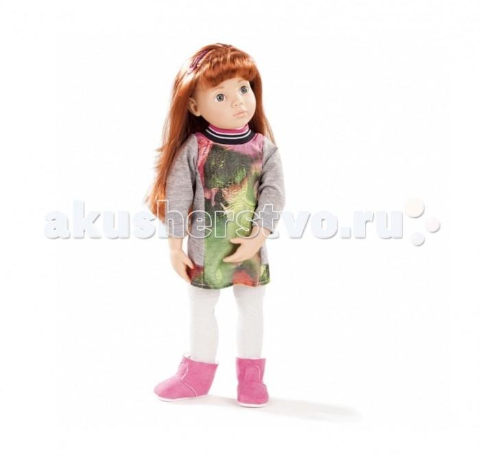 Gotz Кукла Клара 50 смКукла Клара 50 смGotz Кукла Клара просто очаровательна, она станет замечательным подарком для девочки.   Кукла с твердым виниловым подвижным телом подходит для активных игр дома и на улице. Куклу можно переодевать и делать различные прически. Кукла имеет длинные рыжие волосы, которые прочно вшиты для избежания выпадения во время активных игр детей. У куколки 9 точек артикуляции на плечах, бедрах, коленях и шее, что делает ее гибкой и подвижной. Куколка способна принимать самые различные позы, что позволит вашей малышке придумать множество сюжетно-ролевых игр с ней! Глазки у куклы не закрываются.  На куколке платьице с интересным принтом, светлые колготки и милые розовые сапожки. Длинные мягкие волосы куклы распущены, украшены розовой заколкой.  Кукла, одежда и аксессуары выполнены из качественных материалов с учетом необходимых стандартов, соответствующих европейским нормативам. Куклу можно мыть, для поддержания одежды в опрятном виде рекомендуется щадящая машинная стирка при температуре 30 градусов.  Кукла развивает воображение и фантазию ребенка, способность придумывать сценарии для сюжетно-ролевых игр.<br>