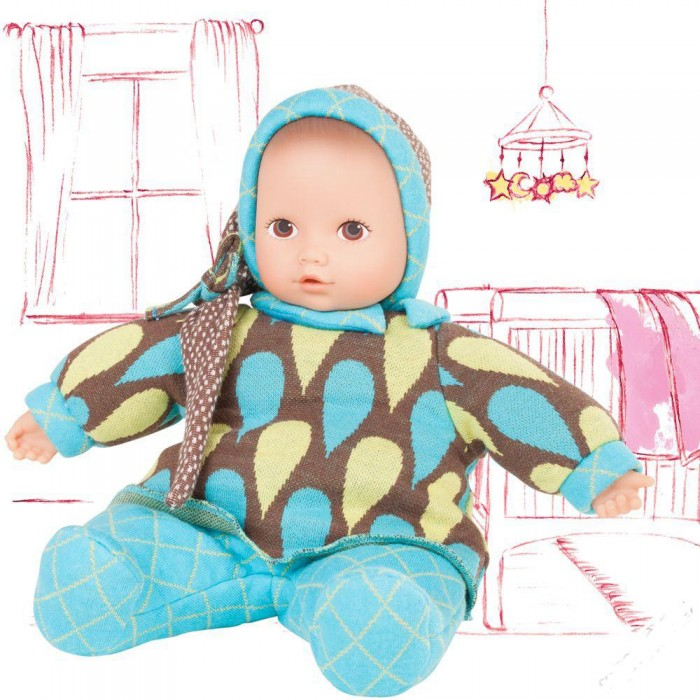 Gotz Кукла Baby Pure МалышКукла Baby Pure МалышGotz Кукла Baby Pure Малыш - этот пупс станет любимой куклой вашей девочки с самого раннего возраста и позволит придумать множество сюжетов для игры.   Основное внимание в этой серии уделено безопасности, долговечности и экологии. Поэтому куклы из этой серии имеют виниловое только лицо и ручки и неподвижную мягконабивную головку. Таким образом, кукла выглядит, как обычный пупс, но весит намного меньше, и малыши не могут повредить ее. Мягкое тело позволяет придавать кукле различные позы. У пупса милое реалистичное лицо с нарисованными неподвижными глазками. Голова пупса не поворачивается.  Малыш одет в уютные сине-коричневые ползунки и колпачок с длинным хвостиком. Одежда с малыша не снимается и не меняется, она прочно пришита к телу.  Реалистичный пупс стимулирует раннее развитие ребенка, развивает речь и логическое мышление, моторные навыки. Кукла приучает ребенка к ответственному и самостоятельному принятию решений, а также помогает весело и интересно проводить время с качественными игрушками.  Для поддержания куклы в чистом состоянии производителем рекомендуется щадящая машинная стирка при температуре 30 градусов.<br>