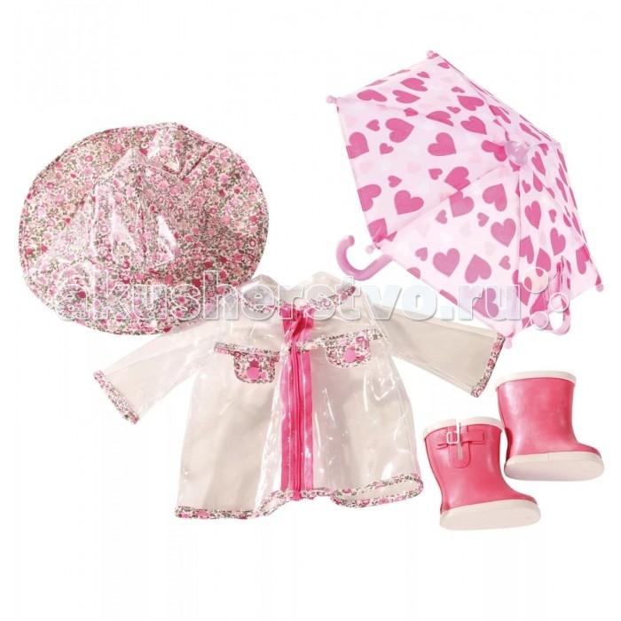 Куклы и одежда для кукол Gotz Набор одежды для дождливой погоды (5 предметов) куклы и одежда для кукол gotz набор для катания на роликах