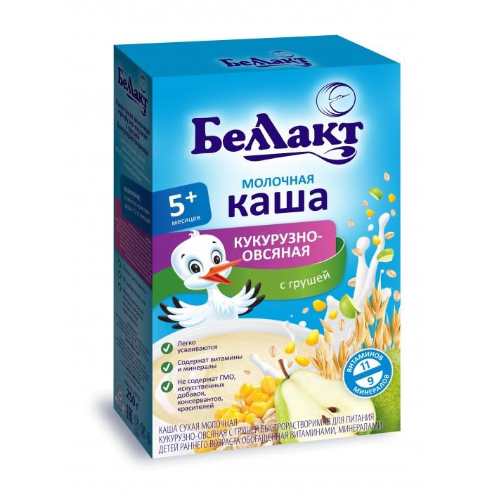 Каши Беллакт Молочная Кукурузно-овсяная каша с грушей с 5 мес., 250 г молочная продукция беллакт молоко стерилизованное с витаминами а с 2 5% 8 мес 200 мл