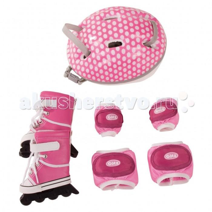 Куклы и одежда для кукол Gotz Набор для катания на роликах куклы и одежда для кукол vestida de azul оливия в розовом костюме 30 см