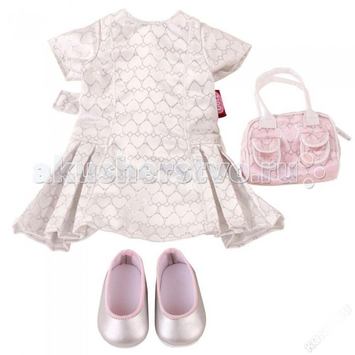 Куклы и одежда для кукол Gotz Набор летней одежды и аксессуаров (4 предмета) куклы и одежда для кукол gotz набор для катания на роликах