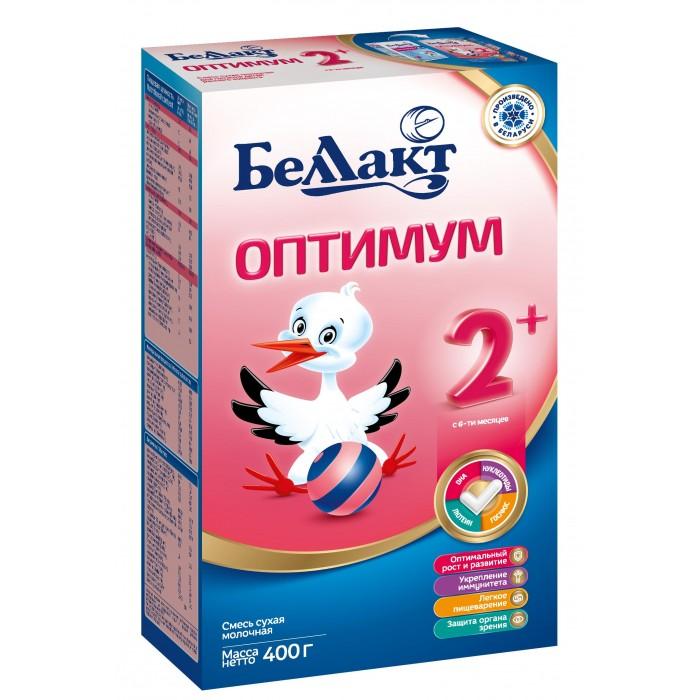 Молочные смеси Беллакт Сухая молочная смесь Оптимум 2+ 400 г молочные смеси беллакт смесь сухая кисломолочная км 1 400 г