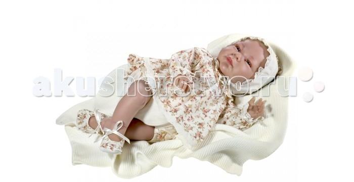 ASI Кукла Триана 46 см 464150Кукла Триана 46 см 464150ASI Кукла Триана 46 см 464150 выглядит совсем как новорожденный ребенок.   Триана выполнена с учетом физиологических особенностей: у нее детально проработаны все складочки на руках и ногах, пальчики с ногтевой пластиной, ножки полусогнуты в коленях. Симпатичное личико с красивыми голубыми глазками, с ресничками, ротик закрыт.  Размер куколки 46 см, тельце набивное, головка малышки с утяжелителем, без волос.  Кукла-реборн Триана одета в красивый костюмчик-песочник с цветочным принтом и шапочку, отделка из тесьмы, кружева и атласных ленточек. Под шортиками спрятан памперс, на ножках пинеточки в цвет платьишка с атласными бантиками.   В комплекте вязаный плед молочного цвета и именной сертификат от ASI (сертификат о рождении), подтверждающий эксклюзивность куколки.  Все куклы ASI создаются с использованием ручного труда. В каждую куколку мастер вкладывает свою душу! Ваш ребенок сразу почувствует тепло и доброту, которая исходит из этой маленькой игрушки.  Особенности: Пупсик упакован в красивую подарочную коробочку Куклы ASI сделаны очень качественно Без запаха  Используется безопасный твердый винил Видна прорисовка мельчайших подробностей тела, рук и ног.<br>