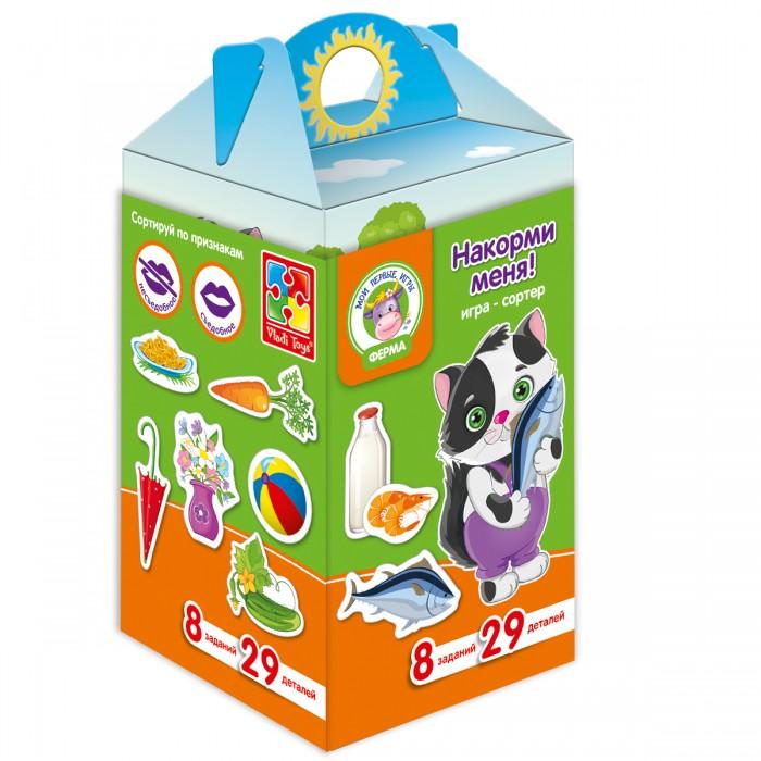 Настольные игры Vladi toys Игра с липучками Накорми меня vladi toys игра мамы и малыши vladi toys