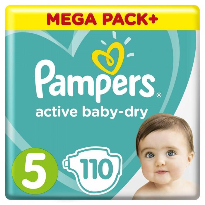 Гигиена и здоровье , Подгузники Pampers Подгузники Active Baby-Dry Junior 5 р. (11-18 кг) 110 шт. арт: 428854 -  Подгузники