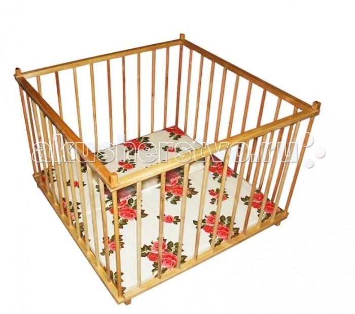 Детская мебель , Манежи Можгинский лесокомбинат четырехугольный арт: 428864 -  Манежи