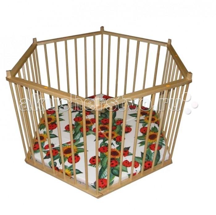 Детская мебель , Манежи Можгинский лесокомбинат шестиугольный арт: 428874 -  Манежи