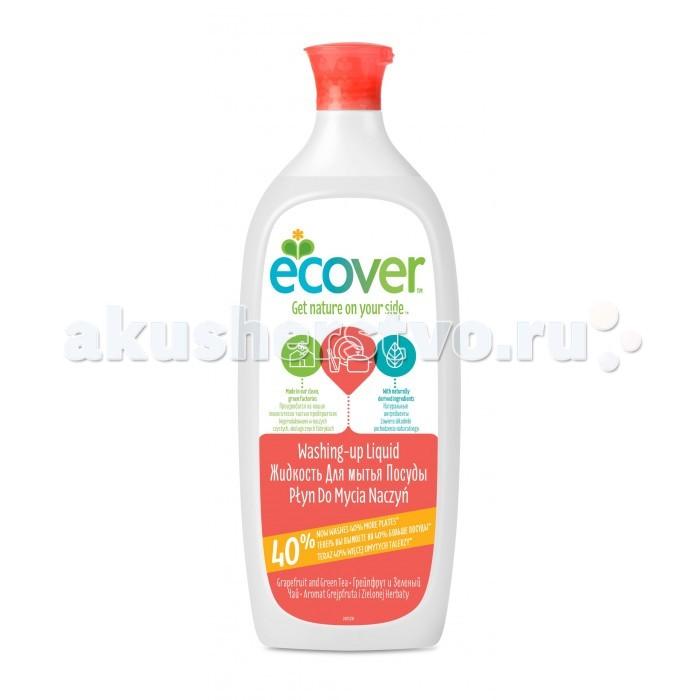 Бытовая химия Ecover Экологическая жидкость для мытья посуды с грейпфрутом и зеленым чаем 1 л жидкий концентрат для мытья пола ecover с льняным маслом 1 л