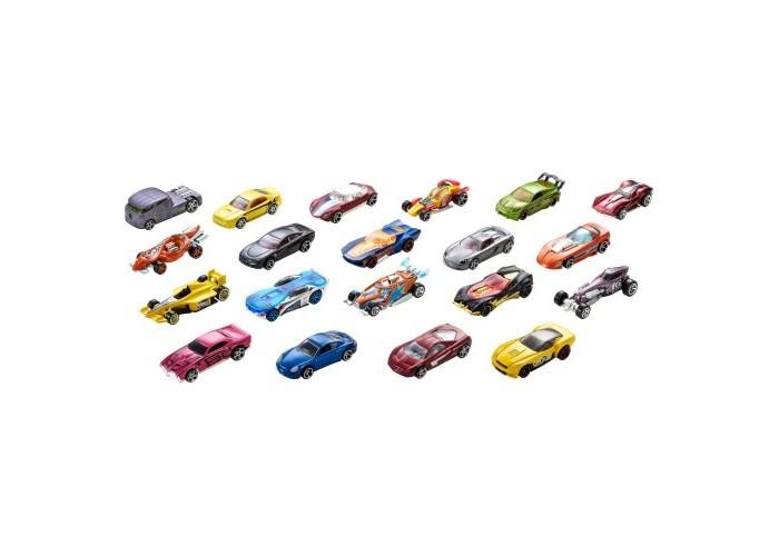 Hot Wheels Набор из 20 машинокНабор из 20 машинокHot Wheels Набор из 20 машинок различных цветов и типов кузовов.  Особенности: Пикапы, мускул-кары, хот-роды. болиды Формулы 1 - и все это в 1 комплекте Благодаря такому автопарку можно устраивать гонки, открывать свой игровой автосалон Можно устроить гонки, поделив машины на классы Можно устроить заезд вне зависимости от категории авто Высокое качество исполнения деталей, корпуса окрашенные в яркие цвета - все это делает игровой процесс еще более интересным, а наличие большого количества машинок открывает новые пределы для детской фантазии. Длина машинка: 6 см.<br>