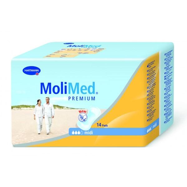 Гигиена для мамы Hartmann Molimed Premium Midi Урологические прокладки 14 шт. прокладки hartmann molimed premium ultra micro 28 шт