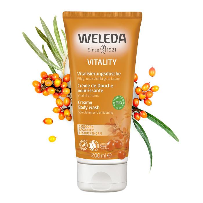 Косметика для мамы Weleda Облепиховый тонизирующий гель для душа 200 мл косметика для мамы weleda масло для волос 50 мл