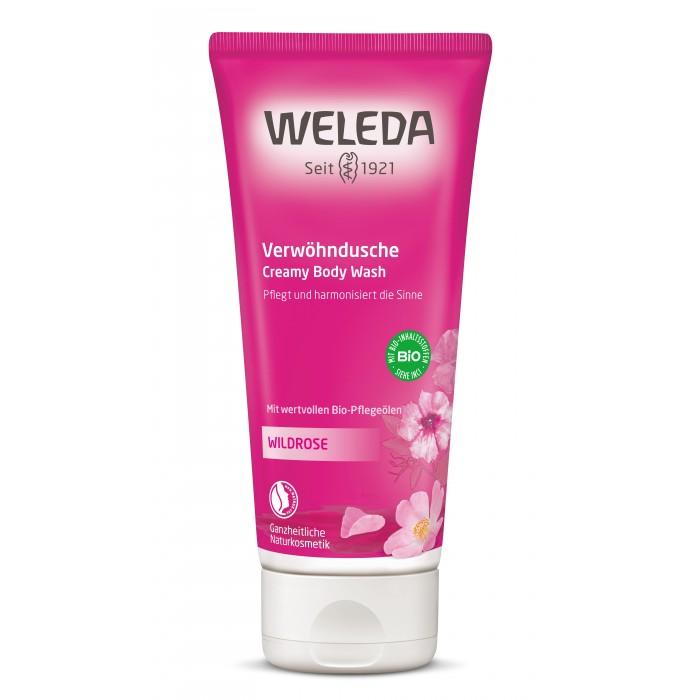 Косметика для мамы Weleda Розовый нежный гель для душа 200 мл weleda гель для душа 200 мл