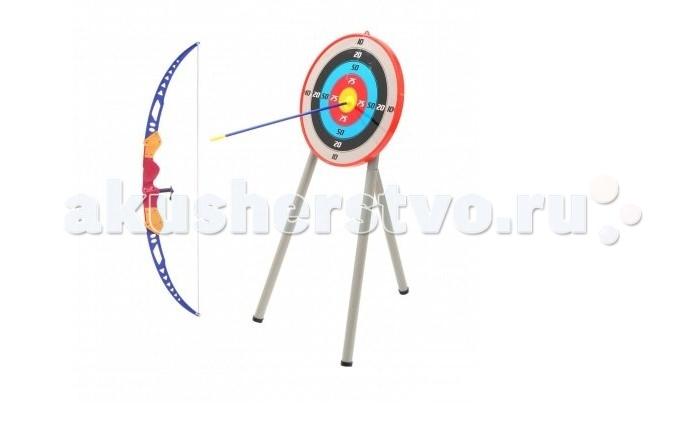 Игрушечное оружие Toy Target Набор Игрушечного оружия Лук и стрелы с мишенью на треноге
