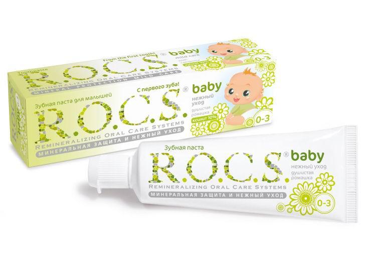 Гигиена полости рта R.O.C.S. Baby Зубная паста Душистая ромашка 45 г свобода зубная паста с ароматом земляники в ламин тубе в футляре disney baby свобода