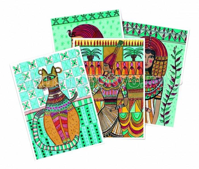 Раскраски Djeco Набор для творчества Египетское искусство набор для творчества тм vladi раскраски глиттером сова