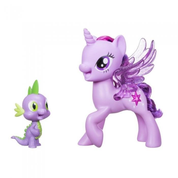 Игровые наборы Май Литл Пони (My Little Pony) Игровой набор Пони Твайлайт Спаркл и Спайк поющие игровые наборы май литл пони my little pony игровой набор equestria girls пижамная вечеринка