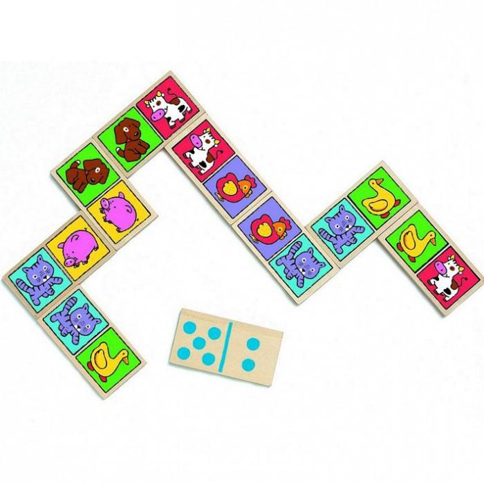 Фото - Деревянные игрушки Djeco Настольная игра Домино-нимо настольная игра радуга забавные