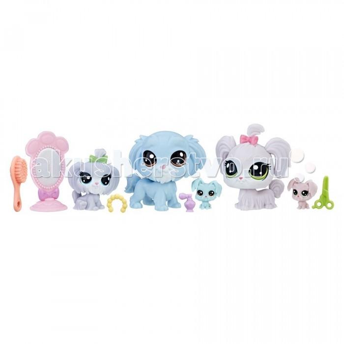 Игровые фигурки Littlest Pet Shop Hasbro Набор Семья игровые наборы littlest pet shop стильный зоомагазин