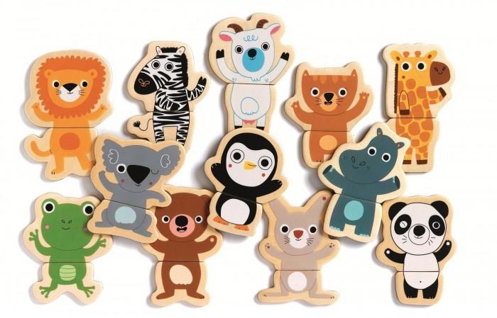 Игры для малышей Djeco Магнитный пазл Ку-ку djeco пазл для малышей лесные животные