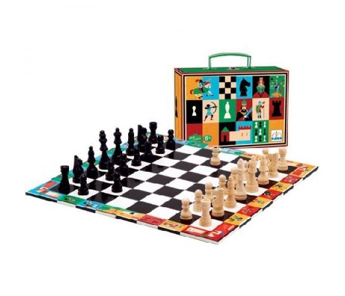 Настольные игры Djeco Настольная игра Шахматы и шашки настольные игры djeco настольная игра желтый карлик