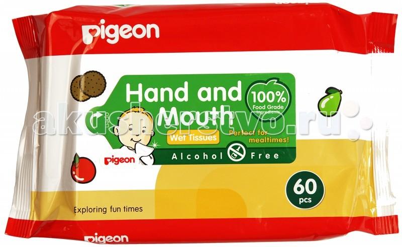 Салфетки Pigeon Салфетки влажные для рук и рта детские 70 шт [импортируется] японский pigeon pigeon экстракт зеленого чая детские салфетки для чистки зубов мокрой ткани × 14 mei
